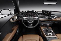 L'interno dell'Audi A7 Sportback