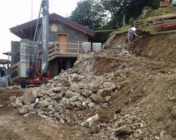 Il rifugio del Cai in Valle Imagna  durante i lavori di ristrutturazione