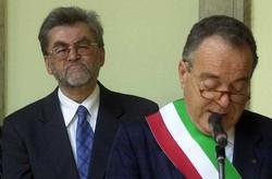 Guido Vicentini e (a destra) Cesare Veneziani: il ballottaggio del 1999