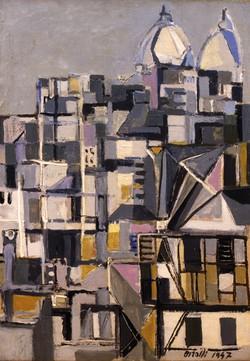Montmartre, Renato Birolli, 1947 Olio su tela, 65x46 Collezione Privata