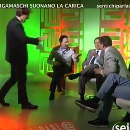 Bettoni-Belotti, alta tensione in tv  Tra accuse e insulti in dialetto