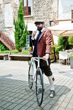 Iniziativa in bicicletta a Bergamo - foto di Rosario Consonni (Photo Lab)