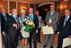 Omaggio floreale a Mina Da Prato, sponsor e socia onoraria del club.