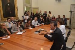 Alla conferenza stampa della nuova giunta comunale
