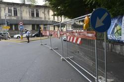 Il blocco dei traffico in via San Giovanni