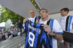 La Camminata Nerazzurra 2014: Antonio Percassi e Marino Lazzarini