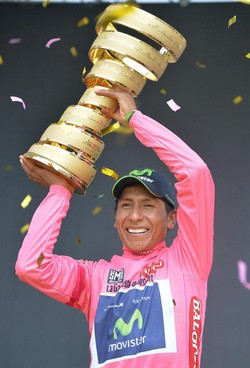 Nairo Quintana, vincitore della 97ª edizione del Giro d'Italia