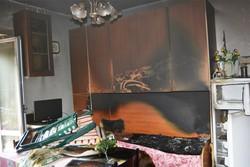 I danni dell'incendio a Valnegra