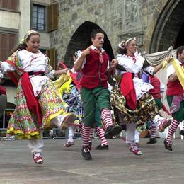 Gruppi folk al raduno regionale  Per Bergamo sfilano i Gioppini