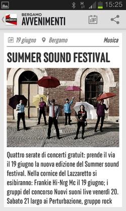 La app di Bergamo Avvenimenti