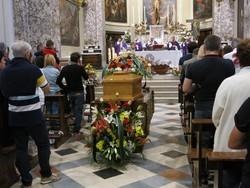 I funerali di Adriano Porcellana a Gazzaniga