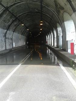 La galleria allagata fra Parzanica e Riva di Solto