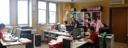 L'ufficio della Pmg Logistica di Gorlago