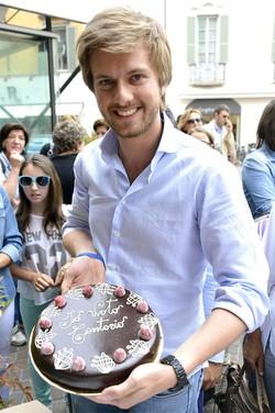 Federico Villa con la sua Sacher Torta