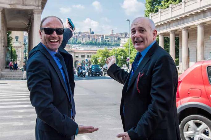 Kenny Jacobs e John Alborante in visita a Bergamo