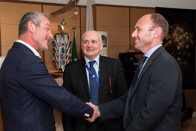 Kenny Jacobs e John Alborante in visita al Cappello d'Oro