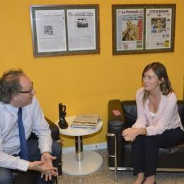 Il ministro Boschi in visita a L'Eco  «Bergamo scelga Gori e il cambiamento»