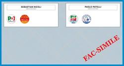 La scheda elettorale per il Comune di Romano di Lombardia