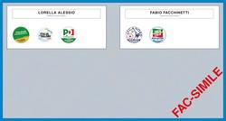 La scheda elettorale per il Comune di Dalmine