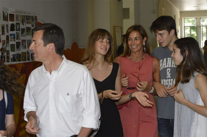 La famiglia Gori al seggio