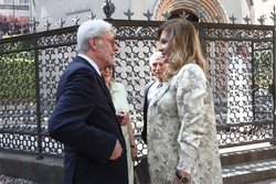 Maria Luisa Trussardi con Vittorio Feltri