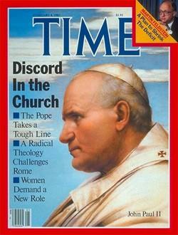 La copertina di Time con il ritratto di Papa Giovanni Paolo II realizzato da Mario Donizetti