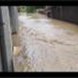 L'esondazione del torrente Uria a Villongo