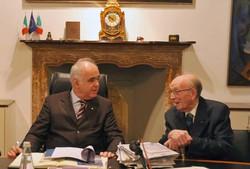 Alfredo Ferri, a destra, con Gianfranco Bonacina, attuale presidente della Cassa Rurale di Treviglio