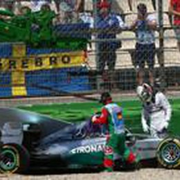 Rosberg in pole in Germania  Hamilton fuori pista, Alonso 7°