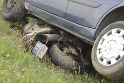 L'incidente sull'ex statale 525 a Dalmine