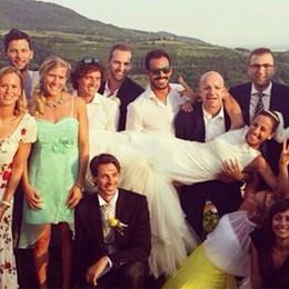 Lo «squalo» si è sposato Fiori d'arancio per Emiliano