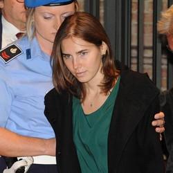 Amanda Knox durante il processo per l'omicidio di Meredich Kercher