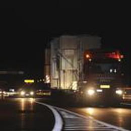 Brebemi: primo trasporto eccezionale  34 metri di lunghezza e 5,6 d'altezza