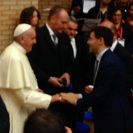 Il rettore Paleari con Papa Francesco  Incontro all'università di Campobasso
