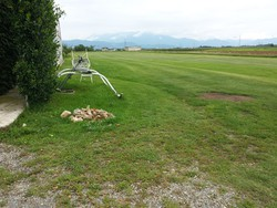 La pista da dove sono decollati i due ultraleggeri