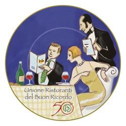 Il piatto commemorativo per i 50 anni del Buon Ricordo.