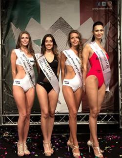 Le quattro bergamasche in lizza: da sinistra Sara Pagliaroli, Alessia Conti, Elisa Piazza e Sara Balduzzi.