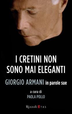 La copertina del libro su Armani a cura di Paola Pollo