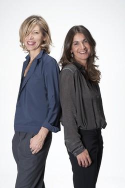 da sin. Cinzia Minghetti e Silvia Lucchini