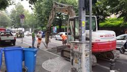 I lavori in via Bonomelli