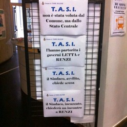 Tasi, i cartelli di rabbia del sindaco   «Non è stata  voluta dal Comune»