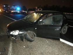 L'auto del 31enne dopo lo schianto