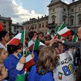Bambini della scuola di Valbrembo  oggi a Roma invitati da Napolitano
