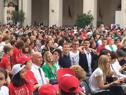Anche molti studenti bergamaschi a Roma
