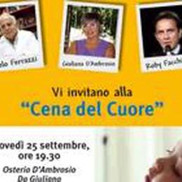 Il 25 «Cena del cuore» da Giuliana  Con Facchinetti per aiutare i bimbi