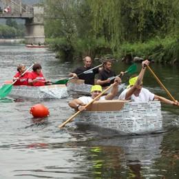 Soap Kayak Extreme sull'Adda  La sfida fra canoe di cartone