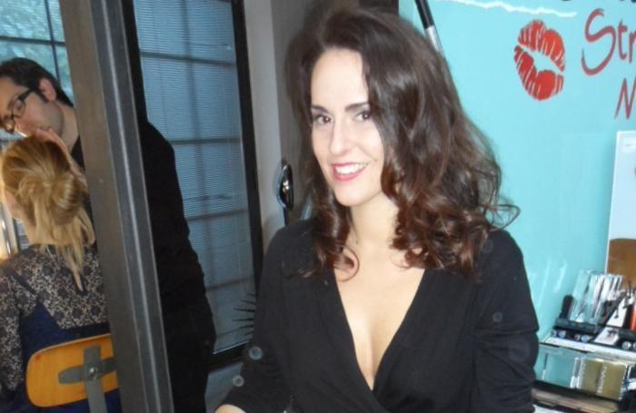 Charlotta Olivato nel backstage del calendario
