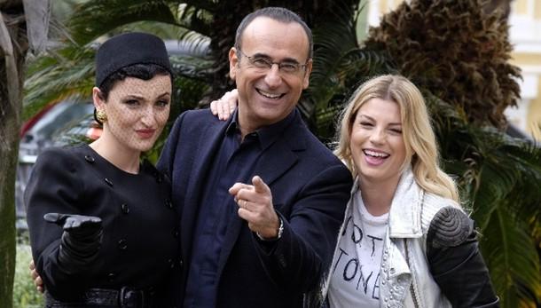 Emma, Arisa e Rocio con Conti a Sanremo