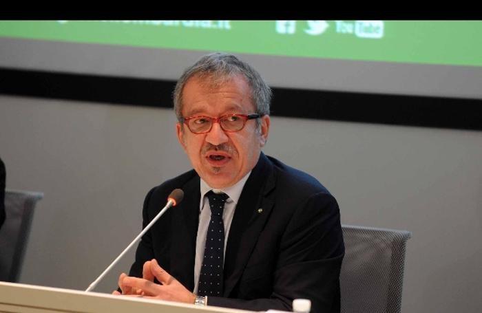 Il presidente della Regione Lombardia, Roberto Maroni
