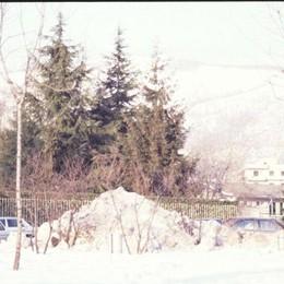 A fine gennaio c'erano ancora mucchi di neve ovunque